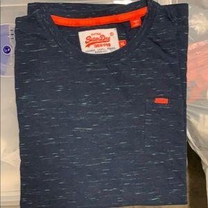 Men's XL Superdry Tee in Heathered Blue